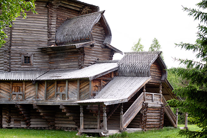Traditional wooden house in Russia.