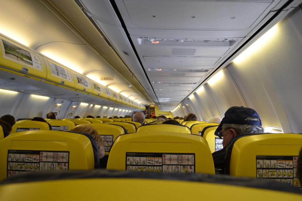 Ryanair flight cabin