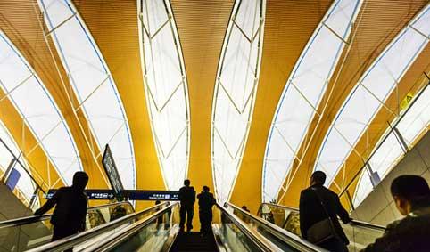 Escalators, Shanghai airport