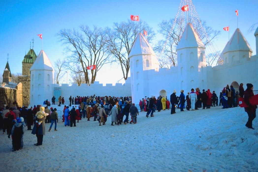 Snow castle sculpture, Quebec