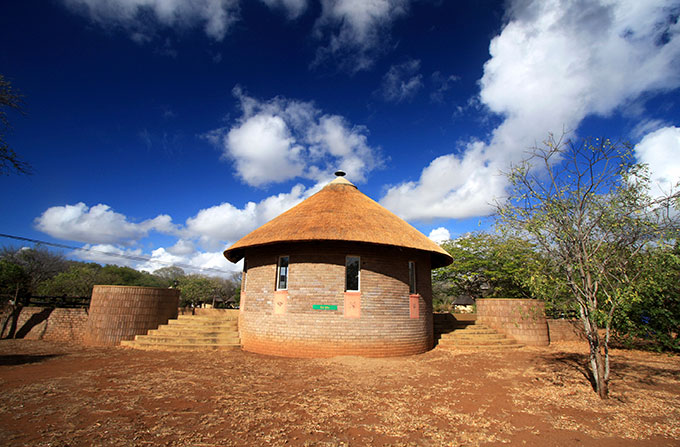 House in the desert in South Africa.