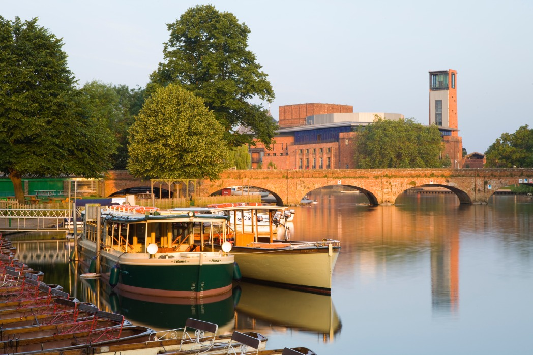 Boats on the River Avon in Stratford-on-Avon