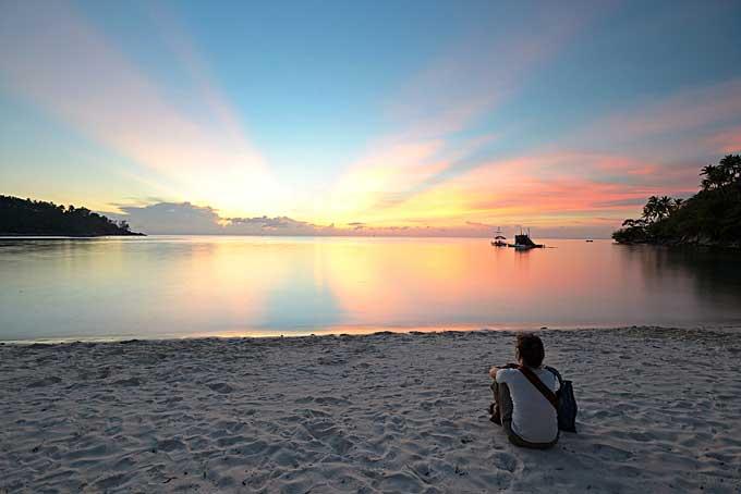 sunset on the beach, Koh Phangan, Thailand