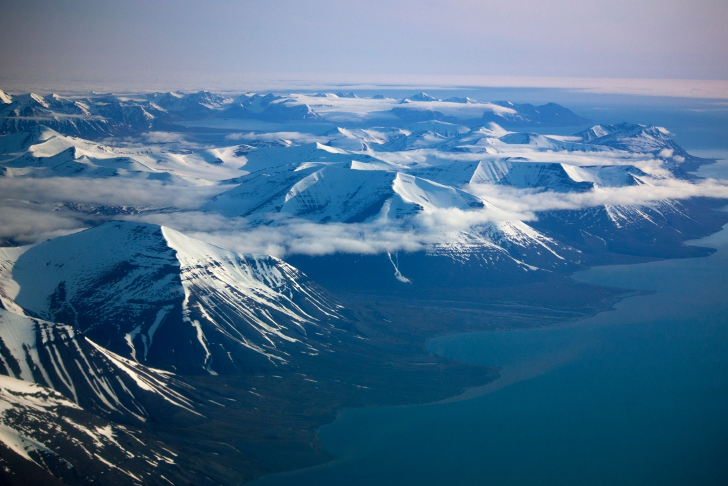 Svalbard mountains from above