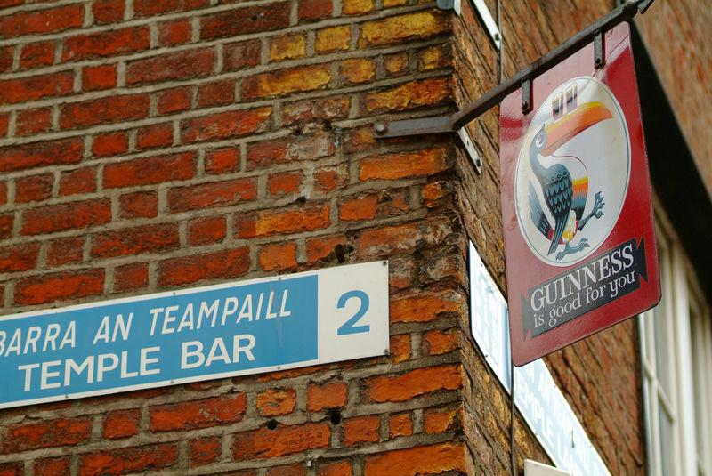 Temple Bar street sign