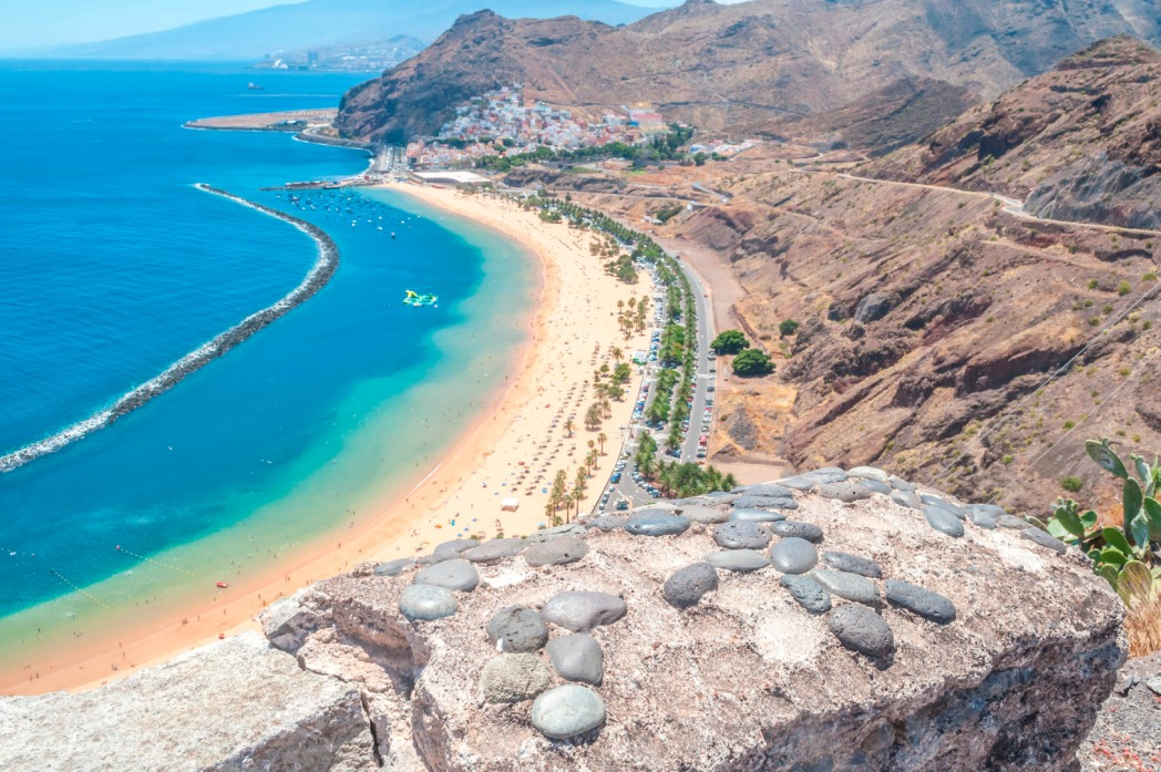 Teresitas beach in Tenerife.