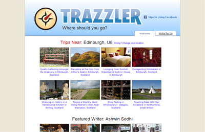 Trazzler com – Website of the Week | Skyscanner's Travel Blog