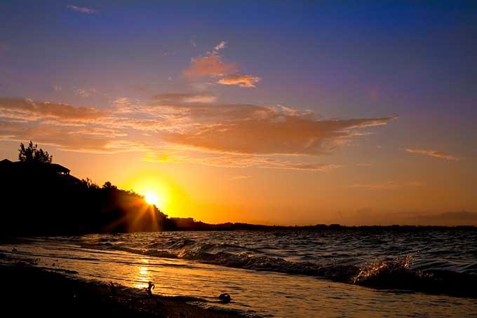 sunset, Turks & Caicos