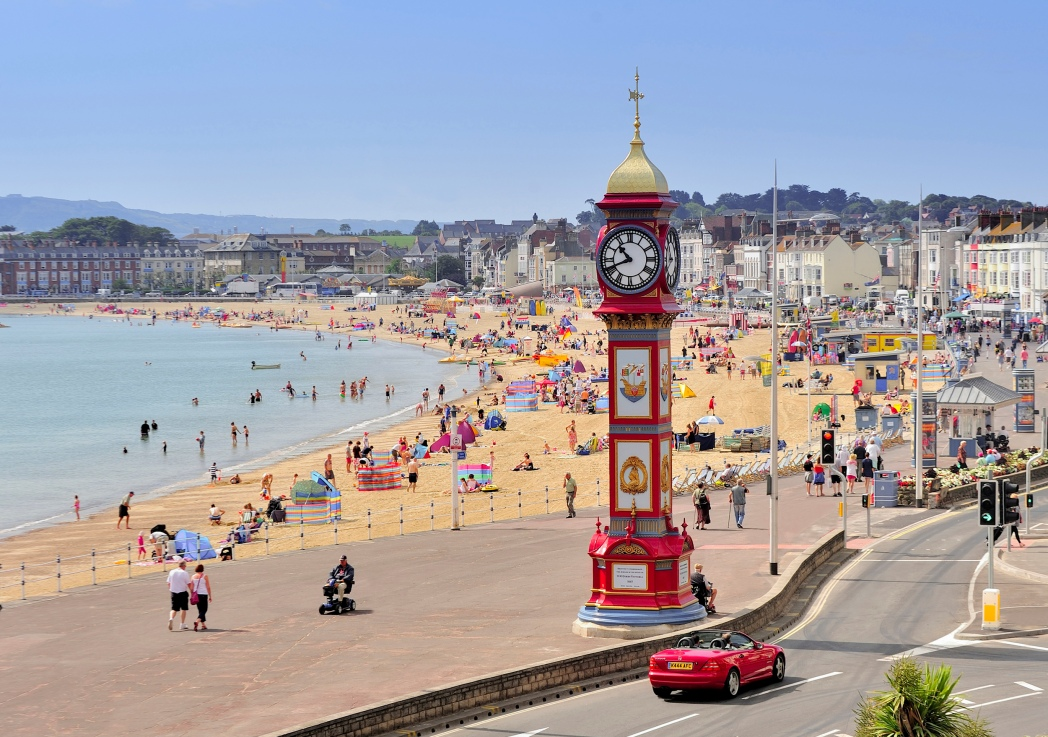 Weymouth Beach is home to some of Dorset's top tourist attractions