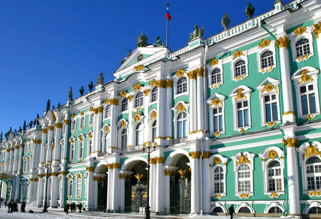 Winter Palace in St Petersburg.